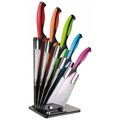 Taylor's Eye Witness 5 Piece Dexterity Coloured Knife Block