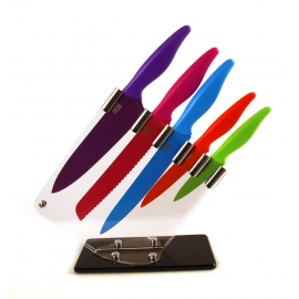 Taylor's Eye Witness Sloping 5 Piece Coloured Knife Block
