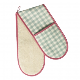 Sage Molly Check Double Oven Glove
