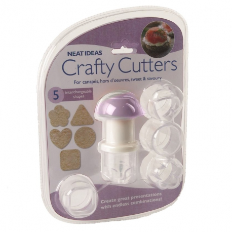 Neat Ideas Crafty Cutters for Canapes