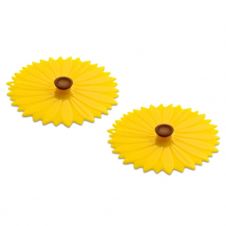 Charles Viancin Silicone Sunflower Drinks Covers - 2pk