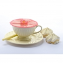 Charles Viancin Silicone Hibiscus Drinks Covers - 2pk