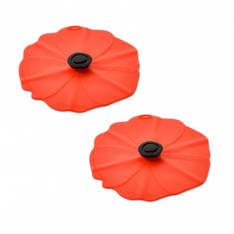 Charles Viancin Silicone Poppy Drinks Covers - 2pk