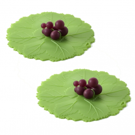 Charles Viancin Silicone Grape Vine Drinks Covers - 2pk