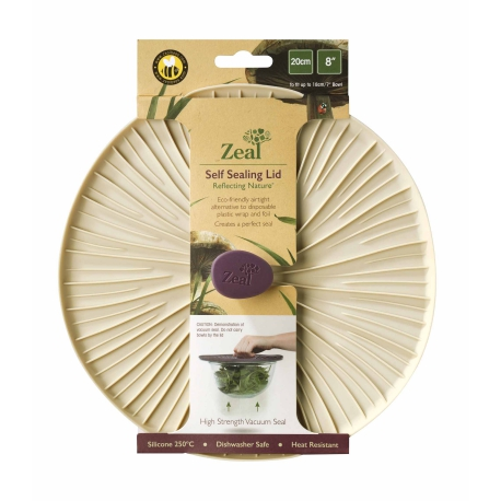 Zeal Reflecting Nature - Cream Mushroom Silicone Bowl & Pan Self Sealing Lid