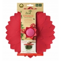 Zeal Reflecting Nature - Red Flower Silicone Bowl & Pan Self Sealing Lid