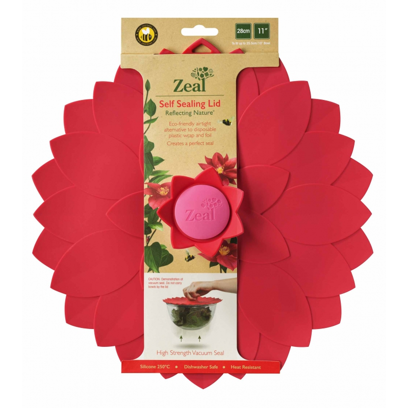 Zeal Reflecting Nature Red Flower Silicone Bowl Amp Pan