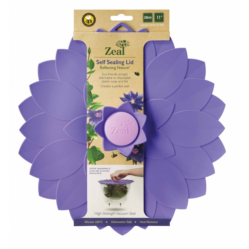 Zeal Reflecting Nature Violet Flower Silicone Bowl Amp Pan