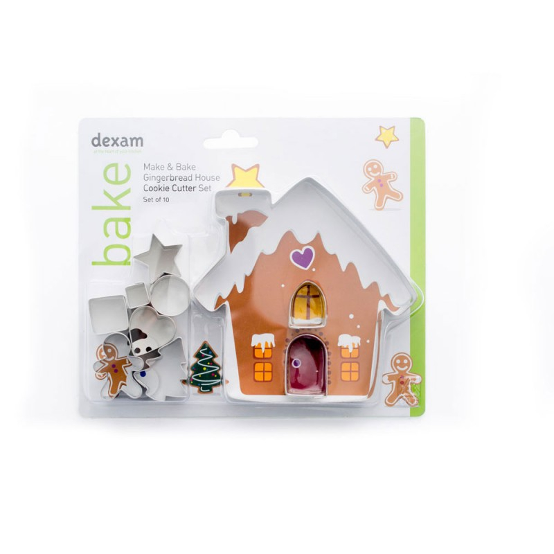 Make Bake Gingerbread House Cookie Cutter Set 10pc