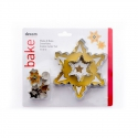 Make & Bake Snowflake Cookie Cutter Set - 10pc