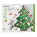 Make & Bake Christmas Tree Cookie Cutter Set - 6pc