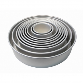"PME Round Fixed Base Cake Tins - 4"" Deep"