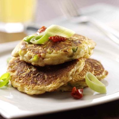 Leek and Oat Savoury Pancakes