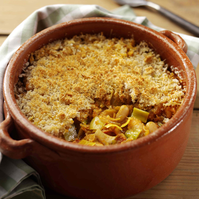 Cassoulet with Leeks, Chorizo and Winter Herbs