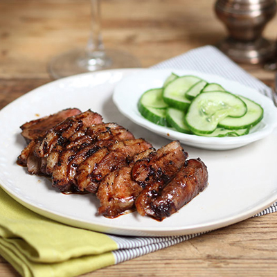 Sweet & Soy Duck with Pickled Cucumber